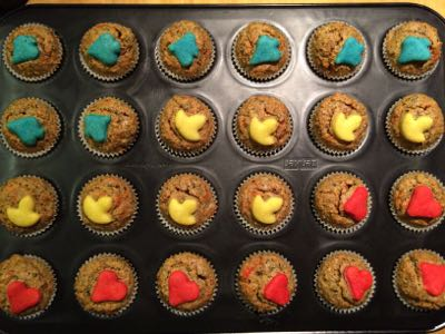 Mini Happy New Year Muffins fertig